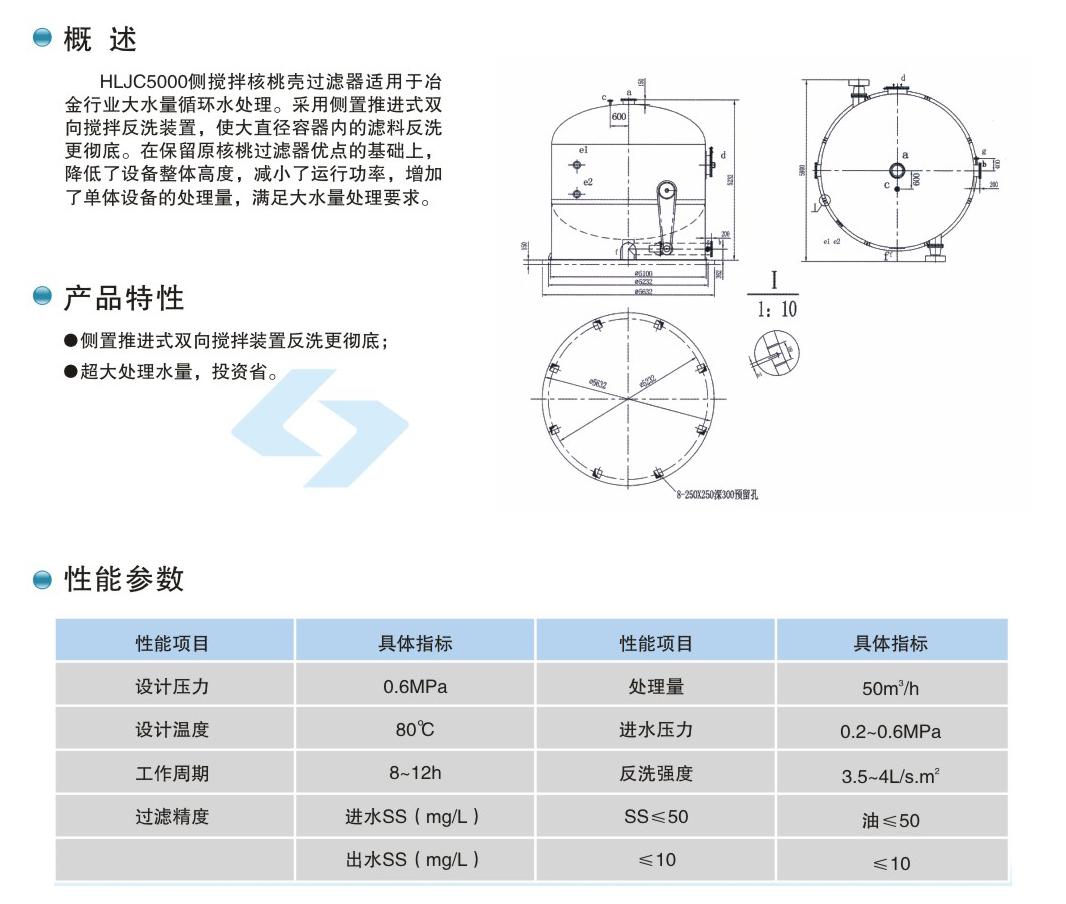 HLJC5000侧搅拌型核桃壳过滤器(图1)